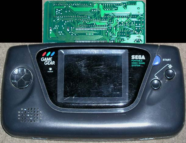Gear Stick Game Sticking Out a Game Gear